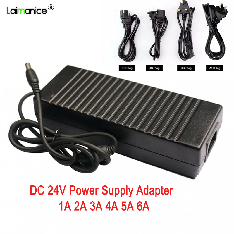 <font><b>24V</b></font> 1A 2A 3A 4A <font><b>5A</b></font> 6A Power Supply Adapter Input AC100-240V To Output DC24V Lighting Transformers <font><b>Charger</b></font> for Led Strip Light image