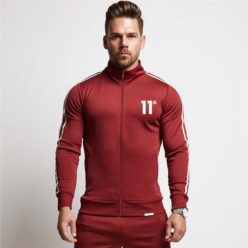 Mens Hip Hop Sets Set 2019 New Zipper Hooded Male Casual Tracksuit Men 2 Piece Sweatshirt + Sweatpants Set