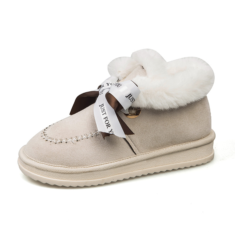 All-in-one snow boots,2019, new style, high-density, warm-keeping, anti-slip cotton shoes, bow and short boots. 39