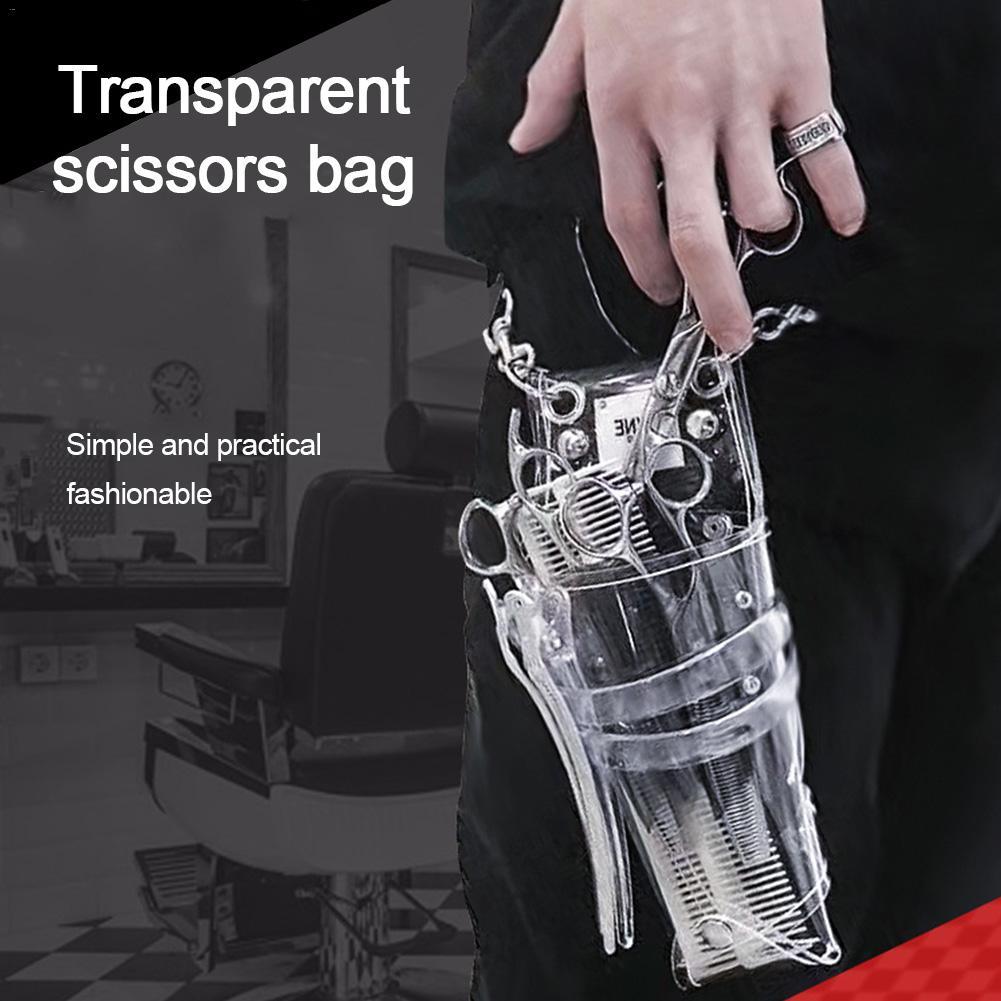 Barber Transparent Scissor Storage Hairdressing Pouch Holder Bag With Waist Shoulder Belt Hair Scissor Bag Hairdressing Kit