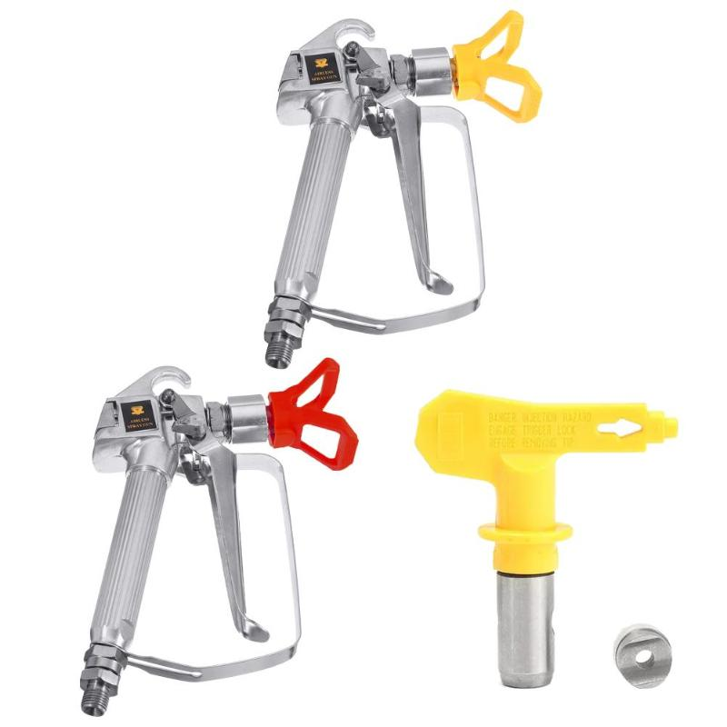 3600psi Spray Gun Quick Edge Airless Paint Sprayer Tungsten Steel Spraying Guide Machine Nozzle Universal Power Accessories