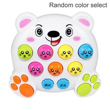 Mole Hamster Attack Toy Electronic Musical Light Kids Baby Early Education Learning Game Mini Intelligent Interactive Toys