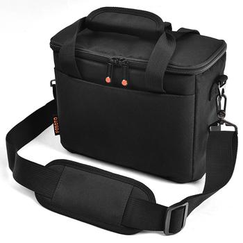 FOSOTO Camera Bag Fashion Shoulder Bag Waterproof Camera Case Photo Bags For Nikon Canon Sony DSLR Camera And Lens high quality multifunction professional double shoulder camera bag backpack case travel bag for canon nikon sony dslr camera