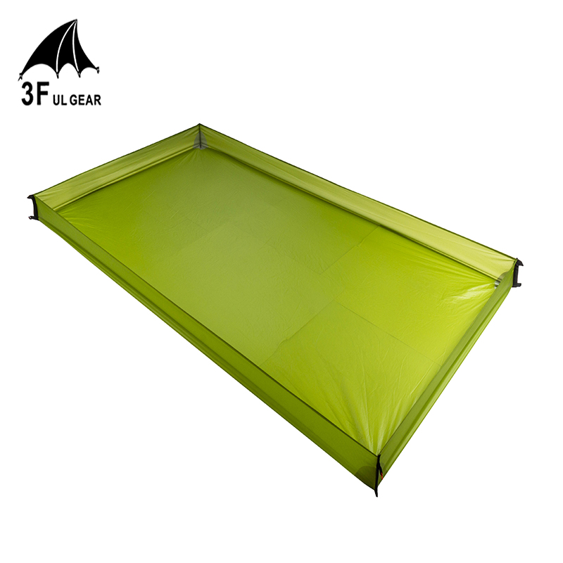 3F UL GEAR 15D Coated Silicon 210T Polyester Bathtub Footprint Super Light Cloth Outdoor Camping Tarp Awning