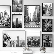New York City Canvas Posters and Prints Black and White Wall Art Pictures Living Room Decoration Painting on The Wall Home Decor