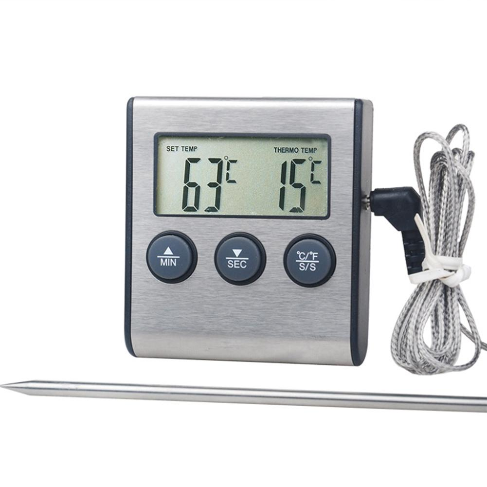 Digital Oven Food Thermometer Stainless Steel BBQ Meat Hangable Temperature Gauge Probe Kitchen Cooking Accessories