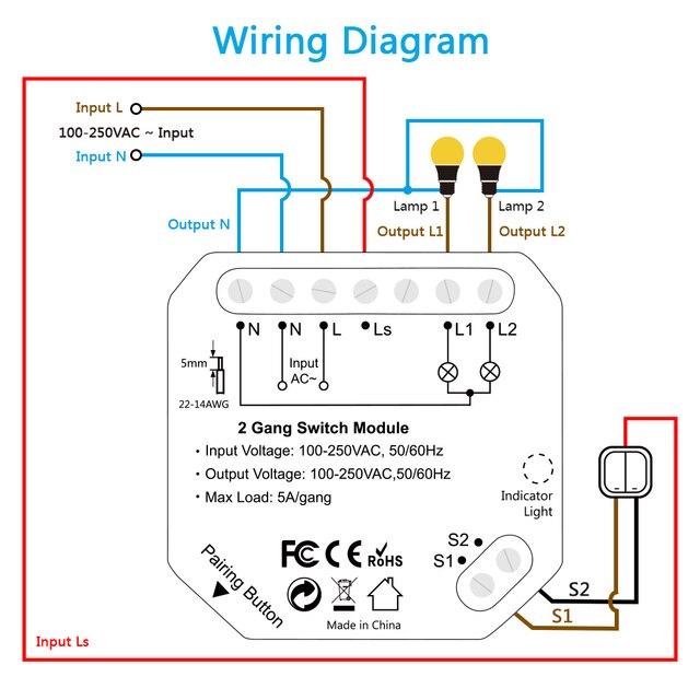 Modulo interruttore doppio WiFi 6