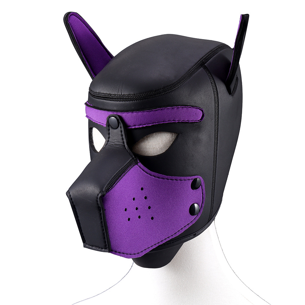 BDSM Bondage Sexy Dog Role Play Mask Erotic Hoods Slave Rubber Fetish <font><b>Adult</b></font> <font><b>Games</b></font> <font><b>Couples</b></font> SM Flirting <font><b>Games</b></font> <font><b>Sex</b></font> <font><b>Toys</b></font> <font><b>For</b></font> <font><b>Couples</b></font> image