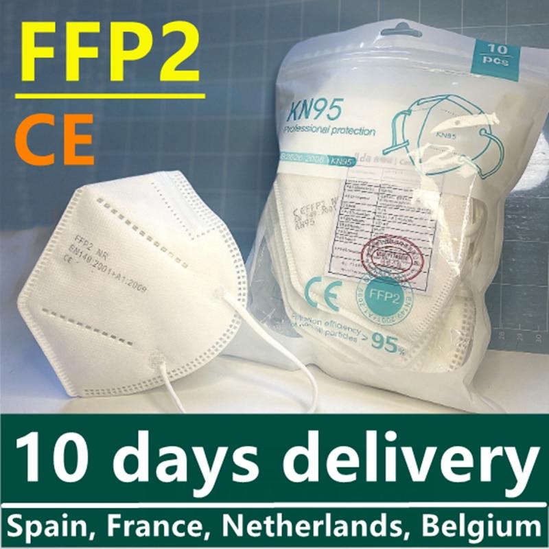Маска ffp2 для взрослых с сертификатом ce ffp 2 Фильтр fpp2 одобренный kn 95 защитный fp2 лицевой ff p2 mascaras pff2 респираторы ff2p Чехия pff2 маска кн95