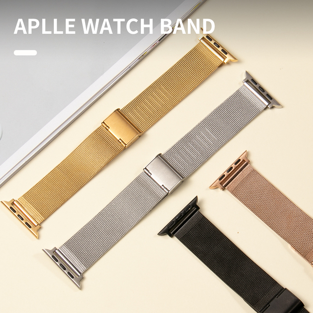 Milanese Loop Bracelet Correa for Apple Watch Band Series 6 SE 5 44mm 42mm Watch Strap for Iwatch 4 3 2 1 38mm 40mm Accessories 4