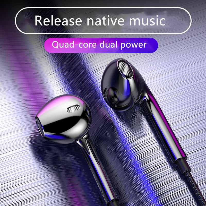 High sound quality in-ear earphone suitable for Android mobile phone headset K song game line control headset with wheat image