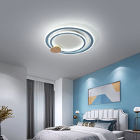 Simple modern Nordic LED ceiling lamp ultra thin round bedroom book room lamp highlight creative kitchen and bathroom lamp