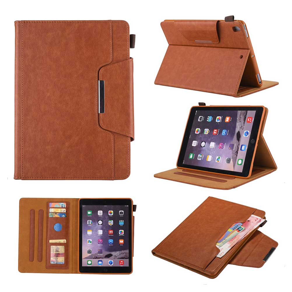 Brown Blue Leather Case For Apple iPad 10 2 2019 7 7th Generation A2197 A2200 A2198 A2232 Cover