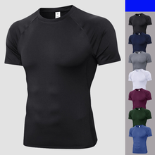 Quick Dry Compression Sport T-Shirts Fitness Gym Running Shirts Tees Bodybuilding Sport Shirts Tops Gym Men T-Shirt(China)