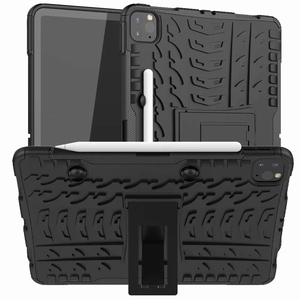 Image 1 - Defender Stand TPU PC Shockproof Protective Silicone Plastic Armor Case For iPad Cover Mini Air 1 2 3 4 5 6 Pro 9.7 10.5 11 10.2