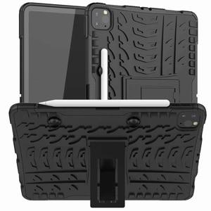 Image 1 - Defender Stand TPU מחשב עמיד הלם מגן סיליקון פלסטיק שריון מקרה עבור iPad כיסוי מיני אוויר 1 2 3 4 5 6 פרו 9.7 10.5 11 10.2