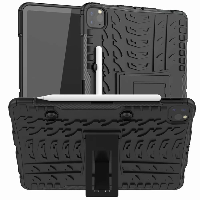 Defender Stand TPU מחשב עמיד הלם מגן סיליקון פלסטיק שריון מקרה עבור iPad כיסוי מיני אוויר 1 2 3 4 5 6 פרו 9.7 10.5 11 10.2