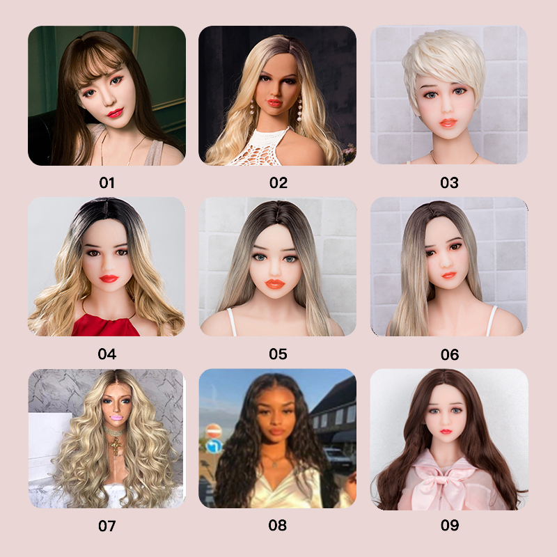 Real Price Tpe <font><b>Doll</b></font> Wigs For <font><b>Sex</b></font> Girl Lifelike Hair Different Color Fit For <font><b>140cm</b></font> To 168cm Love Body Sexshop For Male Using image