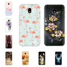 For Samsung Galaxy J3 2016 2017 Case Thin Soft TPU Silicone Flowers Patterned J5 Cover Bumper