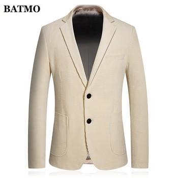 Batmo 2019 autumn new arrival High quality Men's Corduroy casual blazer,fashion solid color  jacket blazer men,big size M-4XL