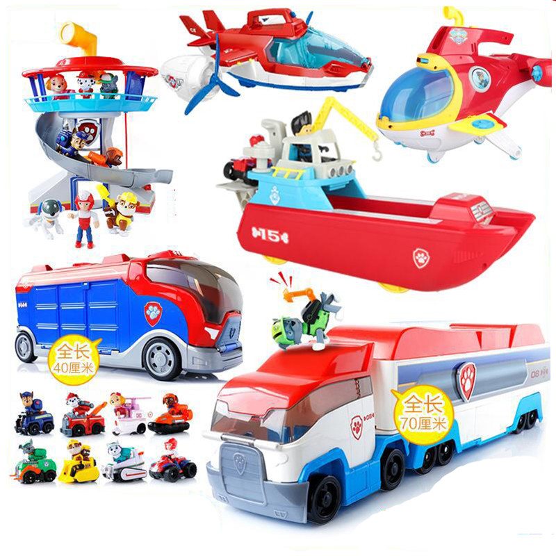 Paw Patrol Toys Set Action Figure Psi Patrol Dog Anime Figure Patrol Paw Birthday Everest Patrulla Canina Bus Rescue Car Toy