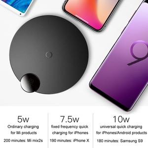Image 5 - Chargeur sans fil Baseus 10W pour iPhone XS Max XR X 8 affichage numérique QI chargeur sans fil pour Samsung Galaxy S8 S9 Huawei