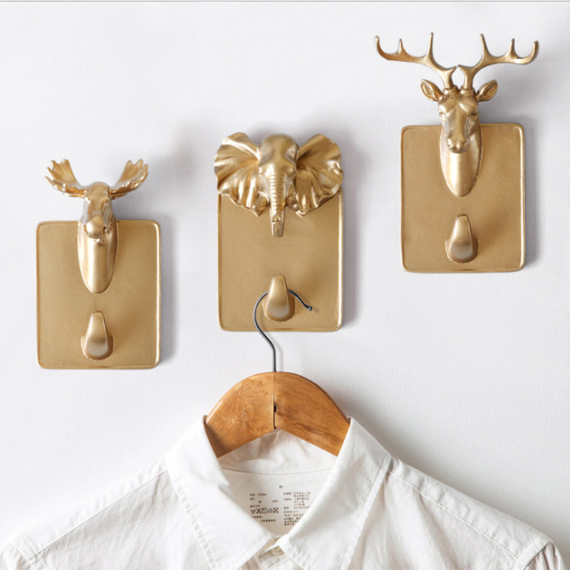 New Wall Coat Rack Home Wall Animal Head Rack