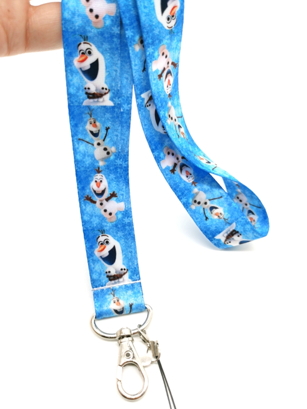 New cartoon snowman Neck Strap Lanyards  Badge Holder Rope Pendant Key Chain Accessorie