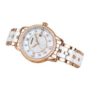 Image 4 - Reloj de Mujer Atieno, regalo de vacaciones, pulsera de cerámica de lujo, reloj de pulsera Para Mujer, Relojes de cuarzo Para Mujer