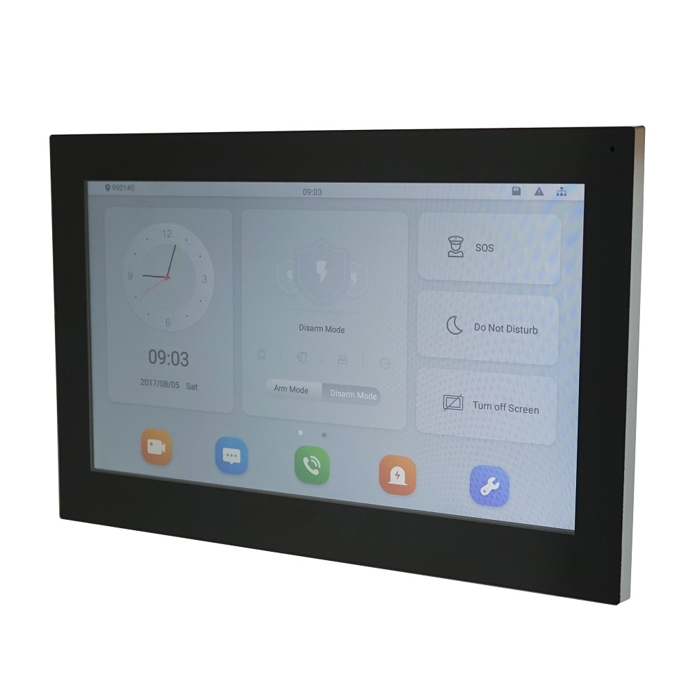 DH Logo VTH5341G-W PoE(802.3af) Android 10-inch Digital Indoor Monitor, Video Intercom Monitor,wired Doorbell Monitor