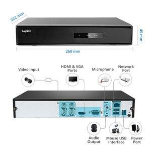 Image 2 - SANNCE 4CH 5 w 1 DVR 1080P na zewnątrz odporne na warunki atmosferyczne 4 sztuk kamera ochrony dzień/noc System CCTV zestaw System monitoringu wizyjnego