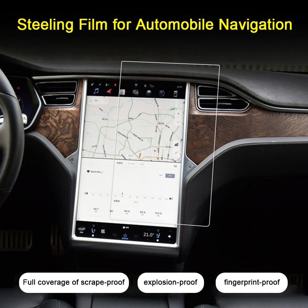 Accessoires toucher Anti empreinte digitale Ultra mince contrôle central écran protecteur Invisible Film voiture Navigation pour Tesla modèle 3