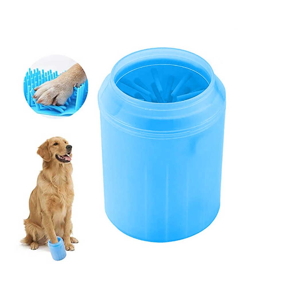 חיות מחמד Paw רגל מנקה כוס בטוח רך סיליקון ניקוי כלי עבור כלבים חתולים Paw כביסה מברשת מכונת כביסה אביזרים לחיות מחמד