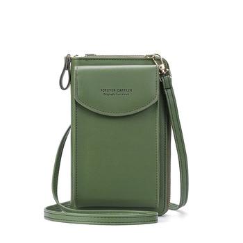 2020 Fashion Cell Phone Case Designer Small Shoulder Bag for Women PU Leather Ladies Crossbody Bag Female Mini Messenger Bags - Green