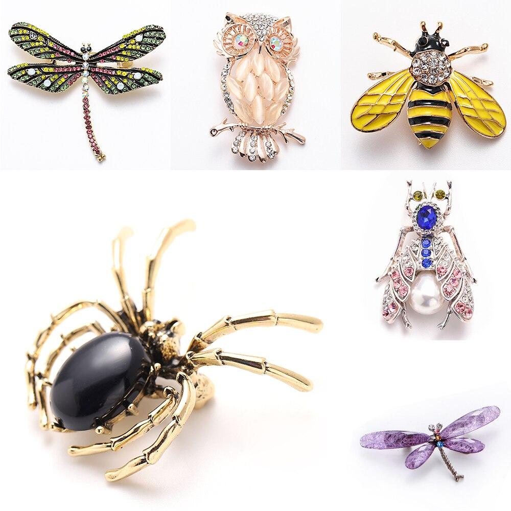 71.45руб. 29% СКИДКА|Брошь на булавке в виде животного для женщин, брошь со стразами, пчела, паук, броши в виде стрекозы, брошь на булавке, ювелирное изделие, бижутерия для свадьбы, вечеринки, лучший подарок|Броши| |  - AliExpress