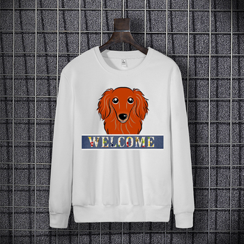 2020 new dog print blouse for women long sleeve hoodie autumn winter loose long sleeve round neck hoodie Round collar Tops ethnic plunging neck long sleeve print blouse for women