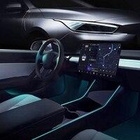 Luces interiores para automóvil Tesla modelo 3, tubos de luz de neón RGB con controlador de aplicación, fácil de instalar