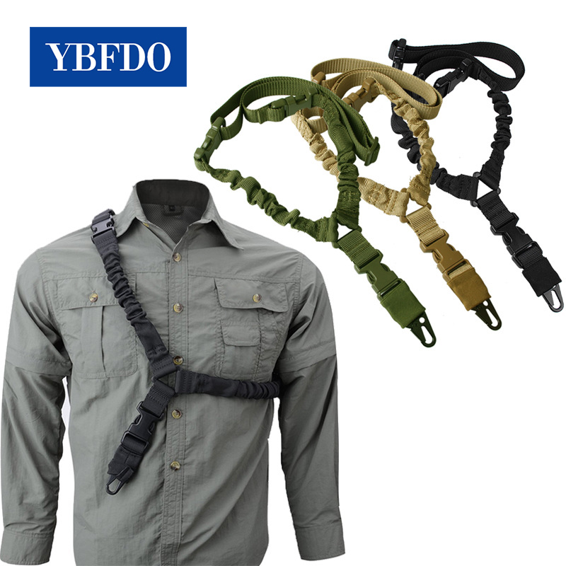 YBFDO Outdoor Army single-point tactical gun rope Airsoft Rifle Strapping Belt Military Shooting Hunting Accessories Rope