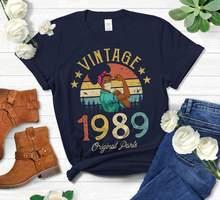T-Shirt Vintage pour femmes africaines et américaines, en coton, avec masque, couleur Harajuku, cadeau d'anniversaire, livraison directe, 1989