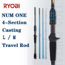 Ryobi 4 секционная портативная кормушка удочка углеродного ходовой