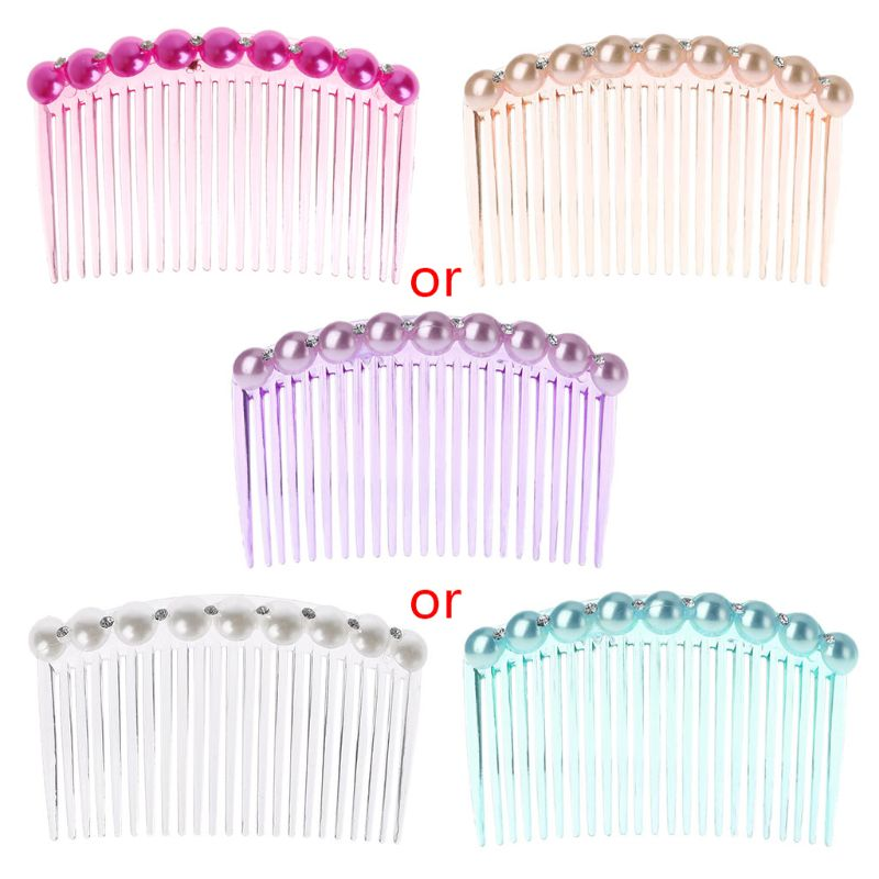 Fashion Comb 23 Tooth Plastic Headwear Hair Accessories Women DIY Clip Tool 5 Color