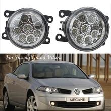 лучшая цена For Suzuki Grand Vitara 2 JT 2005 2006 2007 2008 2009 2010 2011-2015 Car styling CCC E2 3000-1WK LED Fog Lamps DRL Lights 1set