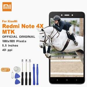 Image 1 - Xiao mi lcd TOUCH Screen Met frame Originele Display Voor Xiao Mi rode mi Note 4X mtk Helio X20 4GB 5.5 inch Vervanging Lcd Displa