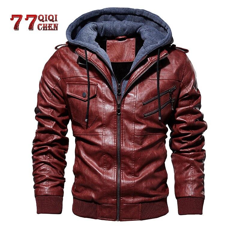 Veste en cuir pour hommes Vintage fermeture à glissière Oblique moto vestes en cuir synthétique polyuréthane homme automne hiver Outwear Jaqueta Masculino Couro