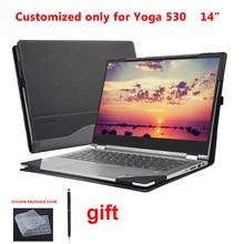 Étui pour lenovo Yoga 530 14 pouces 530 14 530 14IKB pochette pour ordinateur portable détachable housse de protection pour ordinateur portable stylet cadeaux