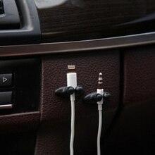 8 шт. мини клейкая Автомобильная зарядная линия зажим для наушников/USB кабель автомобильный зажим автомобильные аксессуары для интерьера