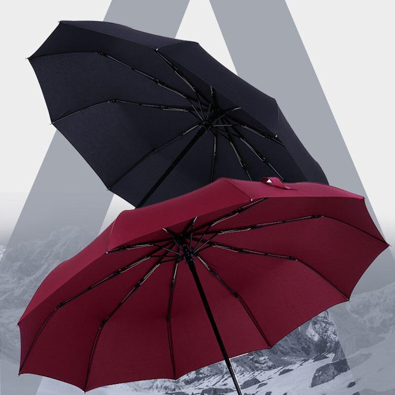 Manual Umbrella Rain Women Men 3 Folding Durable 10K Strong Umbrellas Children Kids Adult Rainy Sunny Umbrella Home Supplies 1pc