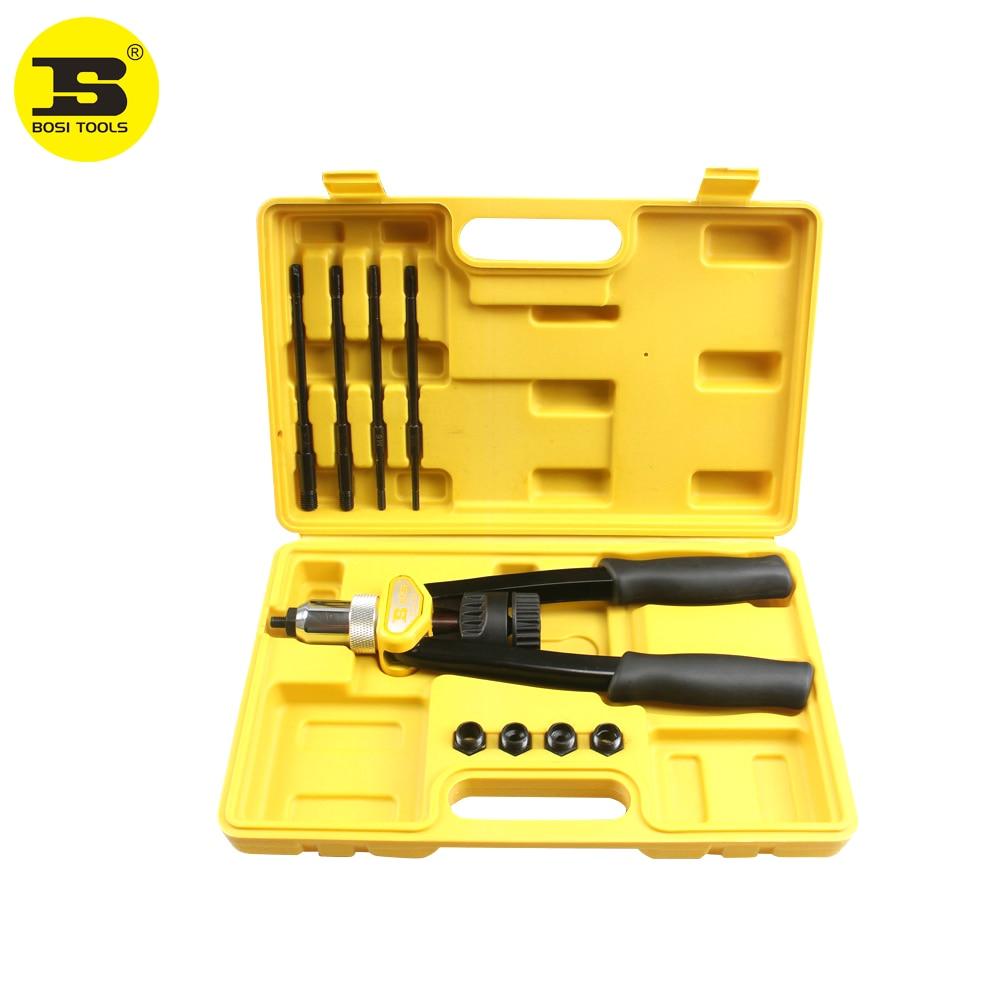 BOSI Manual Heavy Duty Rivet Nut Tool Nut/thread Hand Riveter Blind Rivet Kit M5,M6,M8,M10,M12