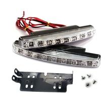 2x Автомобильный светодиодный сигнальный фонарь DRL рабочий противотуманный фонарь дневной ходовой светильник Авто сборка Стайлинг супер яркий белый внешний 12 в 8 светодиодный