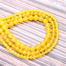 Hot Sale Natural Stone Yellow Agate Beads 15.5 Pick Size: 4 6 8 10 mm fit Diy Charms Beads Jewelry Making Accessories